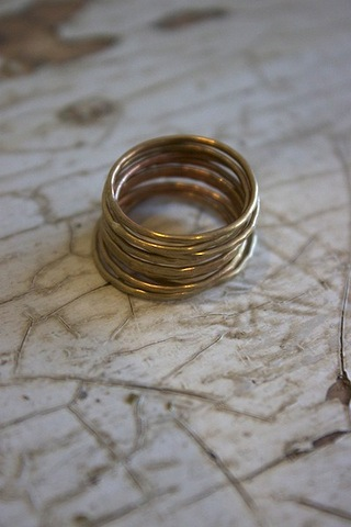 Amy Waltz Designs Gold Dust Rings