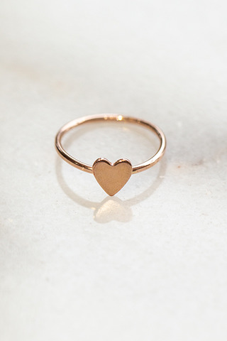 Nashelle Heart Charm Ring