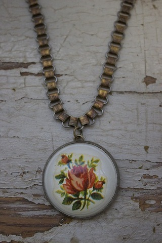 Serendipity Designs by Susan Rose On A Book Chain Necklace