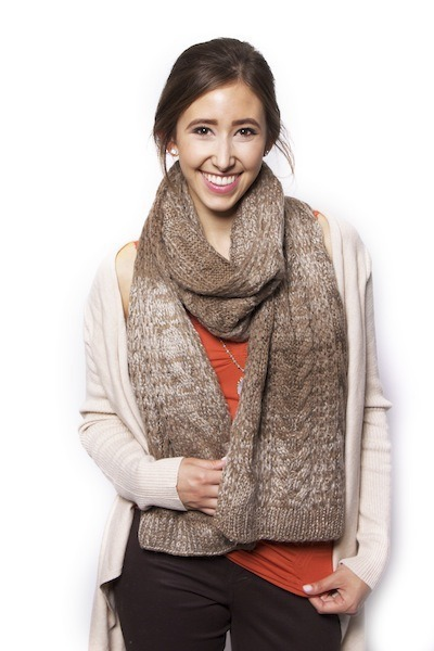 Lavand Cable Knit Scarf