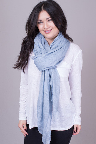 Lovestitch Dusty Blue Washed Up Easy Scarf