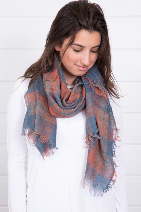 Lovestitch Flannel Turquoise Scarf