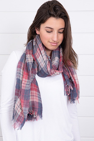 Flannel Denim Scarf