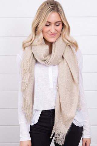 Lovestitch Fluff Woven Scarf