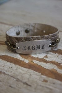 Silver Plaque Karma Wrap