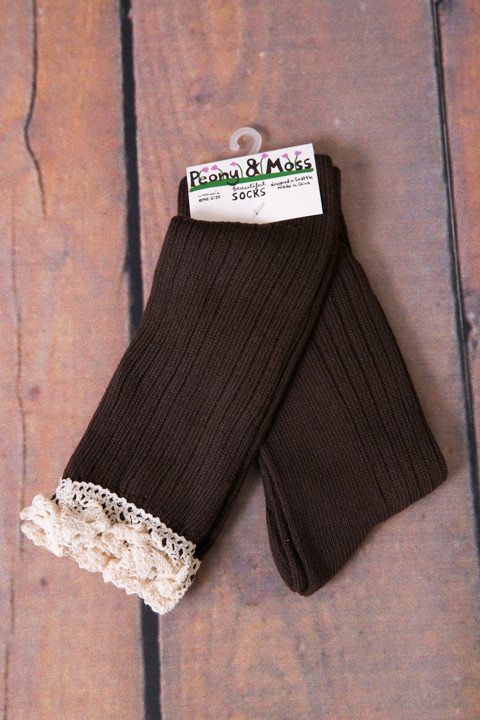 Coffee Lace Knee High