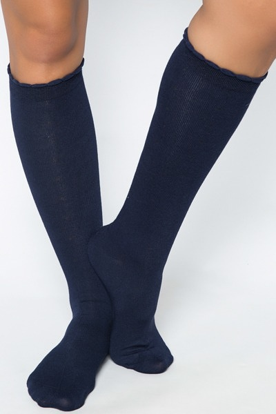 Knee Dot Navy