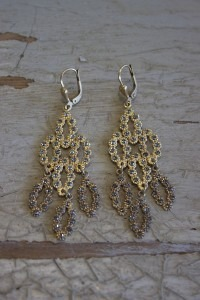 Stone & Cup Chain Earrings