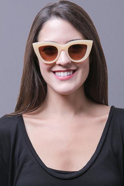 Quay Kitti Sunglasses  kitti beige sunglasses quay eyewear australia