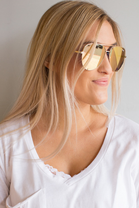 Quay Eyewear Australia High Key Gold
