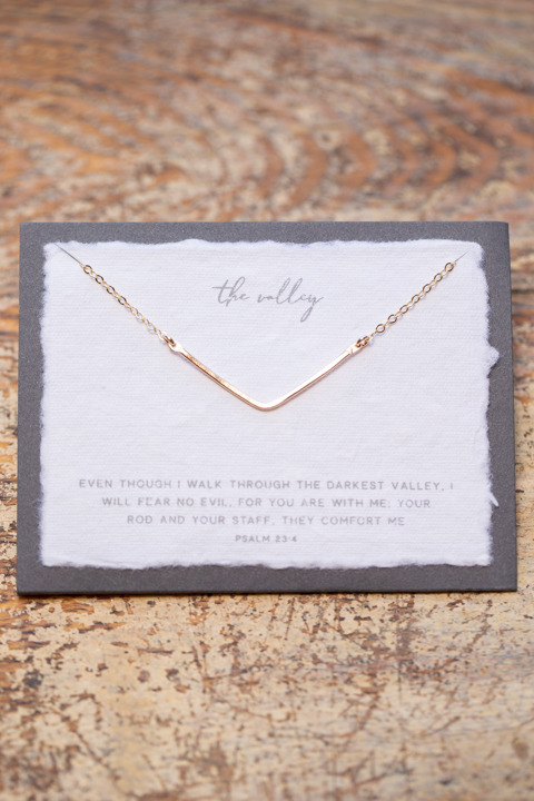 Dear Heart The Valley Gold Necklace
