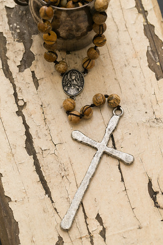 Tigers Eye Rosary