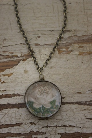 Serendipity Designs by Susan White Rose Necklace
