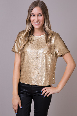 Ark & Co. Sequin Cropped