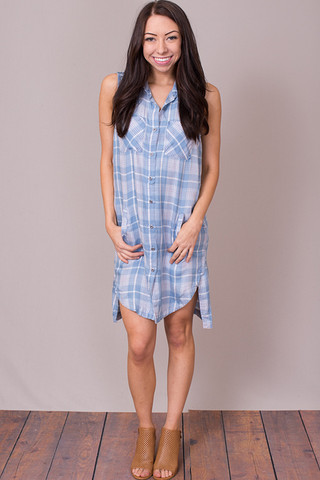 Billy T Girlfriend Plaid Dress