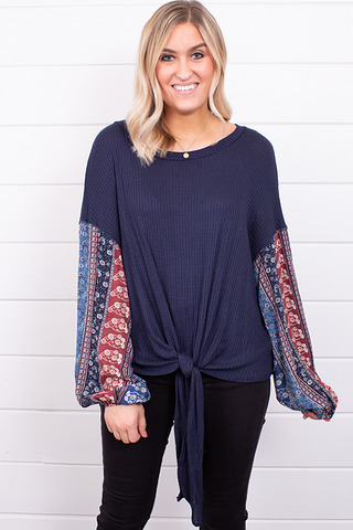 Blu Pepper Boho Sleeve Blouse
