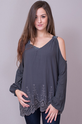 Lovestitch Double Strap Embroidered Top