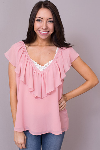 Show Me Your Mumu Easton Ruffle Top