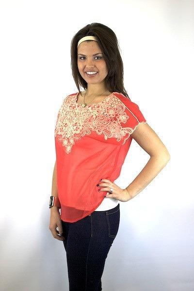 Flying Tomato Poppy Draped Top