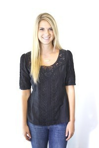 Black Calise Blouse