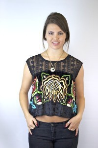Embroidered Native Rose Top