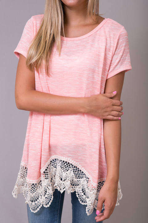 Hayden Lace Trim Soft Tee 4