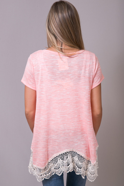 Hayden Lace Trim Soft Tee 3