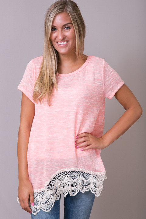 Hayden Lace Trim Soft Tee