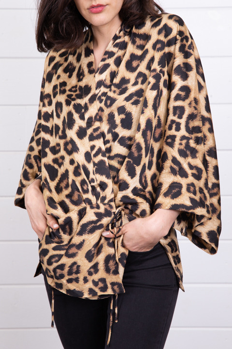 Hayden Leopard Surplice Top 4
