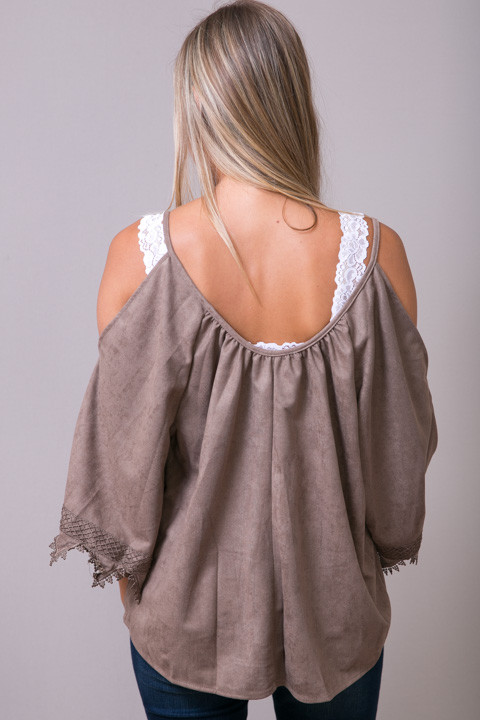 Hayden Suede Like Lace Tunic 2