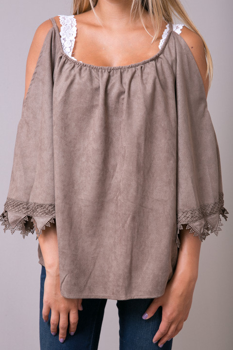 Hayden Suede Like Lace Tunic 4