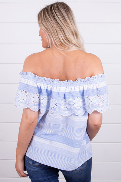 Hem and Thread Blue Seas Off The Shoulder 3