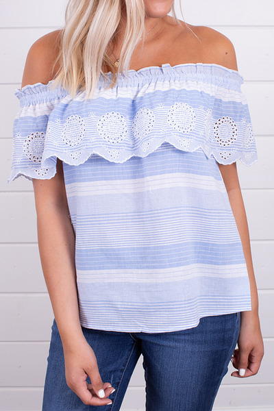 Hem and Thread Blue Seas Off The Shoulder 4