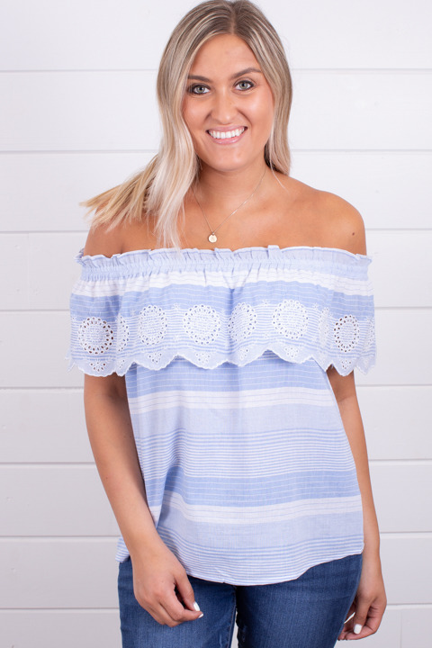 Hem and Thread Blue Seas Off The Shoulder