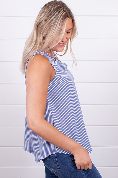 Hem and Thread Smock Stripe Top 2