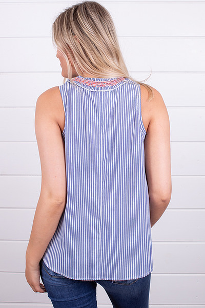 Hem and Thread Smock Stripe Top 3