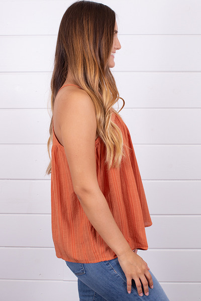 Hem and Thread Textured Stripe Tank 2