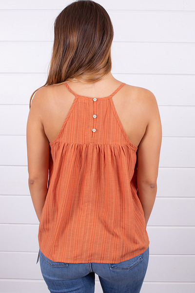 Hem and Thread Textured Stripe Tank 4