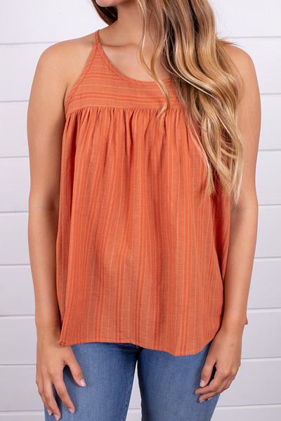 Hem and Thread Textured Stripe Tank 3