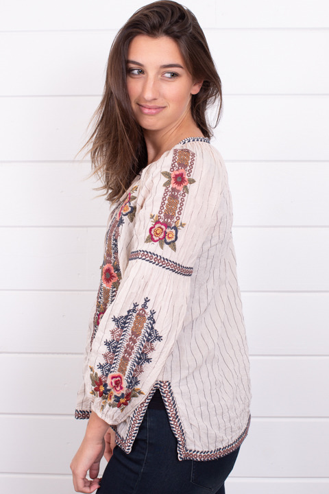 Johnny Was Collection Aaliah Peasant Blouse 2