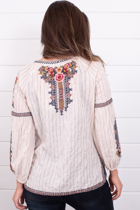 Johnny Was Collection Aaliah Peasant Blouse 3