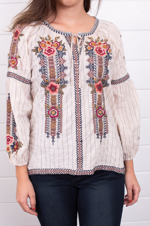Johnny Was Collection Aaliah Peasant Blouse 4