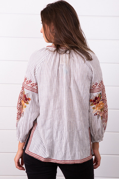 Johnny Was Collection Artemis Peasant Blouse 3