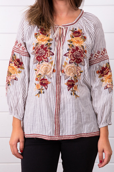 Johnny Was Collection Artemis Peasant Blouse 4