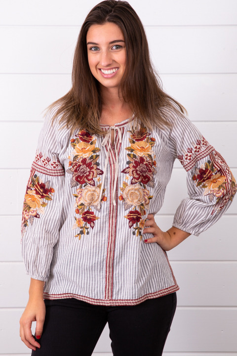 Johnny Was Collection Artemis Peasant Blouse