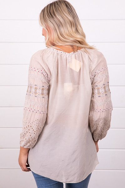 Johnny Was Collection Angelique Eyelet Peasant Blouse 3