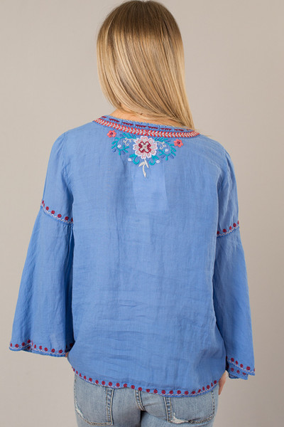 Johnny Was Collection Oman Laceup Swing Blouse 3
