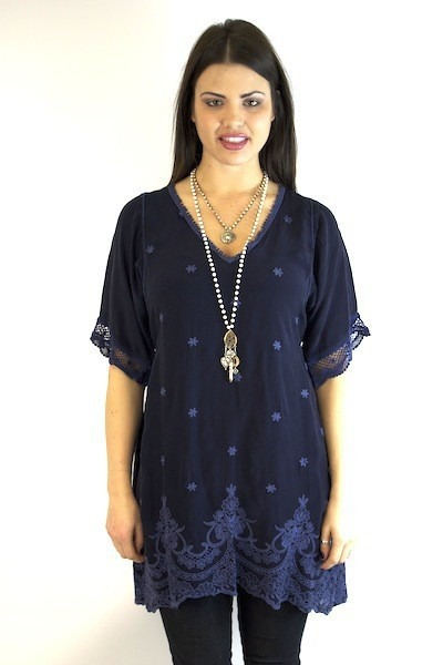Johnny Was Collection Stargazing Tunic