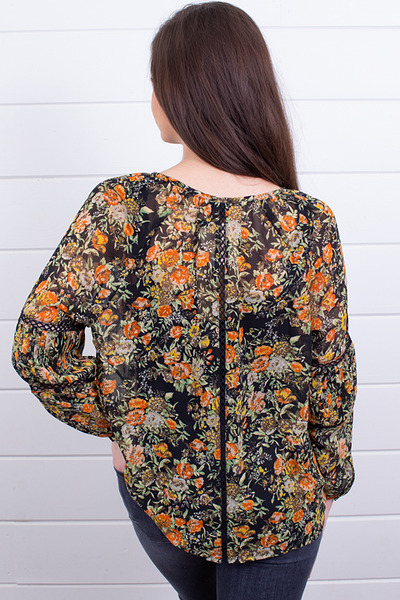 Knot Sisters Elaine Floral Top 2