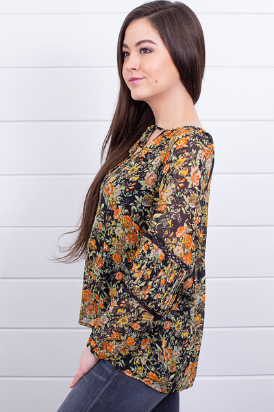 Knot Sisters Elaine Floral Top 3